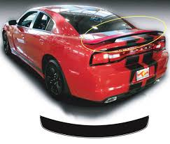 Dodge Charger Rear Spoiler Hemi Rt Decal Sticker Graphics Fits To Models 2011 2014
