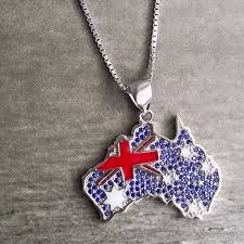 australia necklace crystal pendant