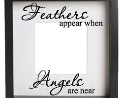 Feathers Appear When My Mum Dad Is Near Quote Vinyl Decal Sticker Only Ribba