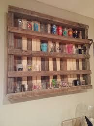 reclaimed lumber shot glass display