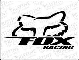 Amazon Com Fox Blitz Die Cut Vinyl Decal 9 Black Automotive