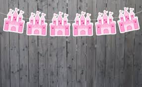 Princess Castle Garland Princess Castle Banner Princess Party Princess Birthday Princess Party Decorations Princess Party Supplies By Craftycue Com Catch My Party
