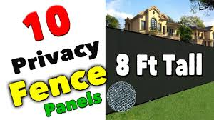 Best 8 Ft Tall Privacy Fence Panels Vinyl Fence Panels Youtube
