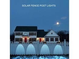 3 Led Solar Fence Post Lights Outdoor Security Wall Lamp Dark Sensing Waterproof Ip65 8x4 5x4cm Newegg Com