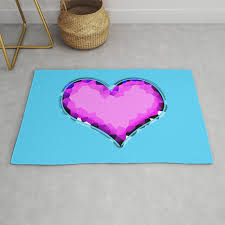 glamour heart shaped diamonds rug by