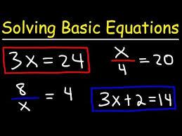 algebra basics solving basic
