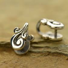 sterling silver jewelry bail pinch