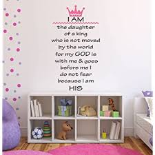 Amazon Com I Am The Daughter Of A King Girl S Religious Nursery Quote Vinyl Wall Decal 16 Wide By 28 High Baby