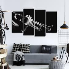 Trumpet Player Multi Panel Canvas Wall Art Elephantstock