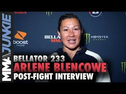 Bellator 233: Arlene Blencowe full post-fight interview - YouTube