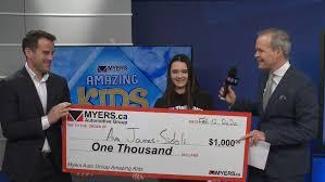 Myers Amazing Kid: Ava James-Sidoli | CTV News