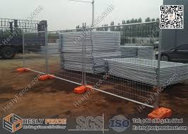 Mobile Tempoary Fencing Panels With Plastic Feet Australia Temporary Fence Hire Company
