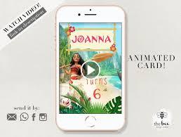 Moana Cumpleanos Animacion Video Invitacion Invitacion Animada