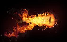 تحميل خلفيات الغيتار النار الفن عريضة 2560x1600 جودة عالية
