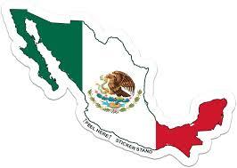 Amazon Com Mexico Map Flag Car Bumper Window Sticker 5 X 4 Automotive