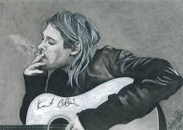 Kurt Cobain Drawing by Wendi Hall
