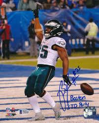Boston Scott Signed 8×10 Photo – Eagles ...