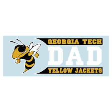 Georgia Tech Yellow Jackets Gt Dad Decal Sticker 6 Universities Forever