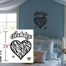 Zebra Decal Kids Room Zebra Personalized Zebra Wall Door Decal Room Sticker Ebay