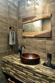 bathroom mirror round square wood frame