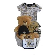 new orleans saints baby gift basket
