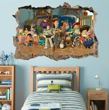 Toy Story 3d Smashed Hole Wall Sticker Decal Mural Children Buzz Woody H989 Ebay