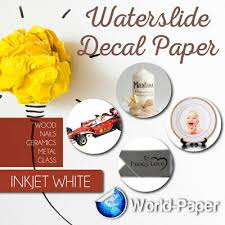 Waterslide Decal Paper 11x17 50 Sheets For Inkjet Printers With White Background 4943513141340 Ebay