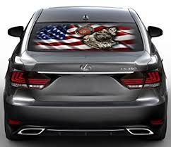 Amazon Com American Navy Shield Perforated Vinyl Decal Rear Window Car See Thru Gc3313 15x30 Baby