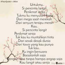 untukmu si penc quotes writings by gina elma yourquote