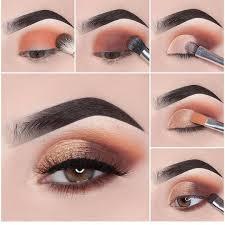 bronze eye makeup step by saubhaya makeup