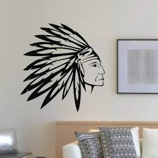 Amazon Com Wall Decal Vinyl Sticker People Native American Indian Man Tribal Decor Sb891 Home Kitchen