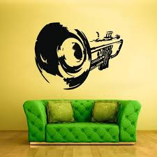 Wall Vinyl Decal Sticker Bedroom Decal Music Notes Tube Jazz Audio Z23 Stickersforlife