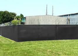 Black Sun Blockage Privacy Fence Netting With Brass Aluminum Grommets 140gsm