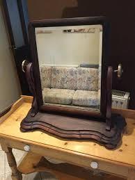 oak dressing table mirror vintage