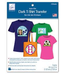 Dark T Shirt Transfer Paper For Ink Jet Printers 3 Pkg Joann