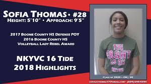 Sofia Thomas - Class of 2020 - 2018 Highlights - YouTube