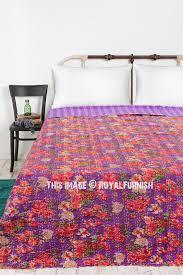 purple rose garden theme indian kantha
