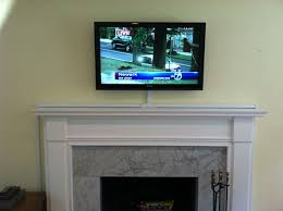 hide media cables tv above fireplace