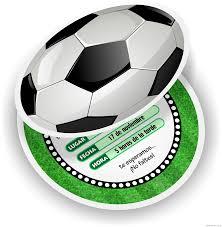 Invitaciones De Futbol Tarjetas En Forma De Pelota Gratis Para
