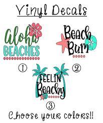 Beach 3 Vinyl Decal Sticker For Car Tumbler Cup Wine Glass Water Bottle Ebay
