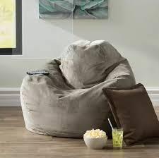 Bean Bag Comfy Chair Dorm Teen Kids Room Lounger Large Big Foam Microfiber Gray For Sale Online