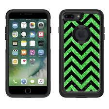 Skin Decal For Otterbox Commuter Apple Iphone 7 Plus Case Chevron Green Black Walmart Com Walmart Com