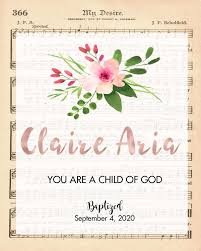Rose Gold Name Baptism Wall Art Rose Clearfield