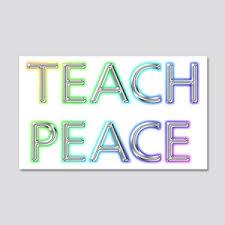 Teach Peace Wall Art Cafepress