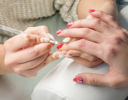 gel nail extensions overlays the