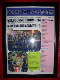 2017 NRL Grand Final - framed print ...