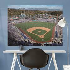 Los Angeles Dodgers Logo Wall Decal Mlb Baseball Decor Mural Vinyl Sticker Decor Decals Stickers Vinyl Art Home Garden