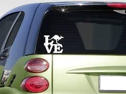 Amazon Com Brandvinyl Kangaroo Love 6 Sticker Decal Australia Aussie Zoo Joey Outback Home Kitchen