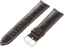 hadley roma men s 18mm leather watch