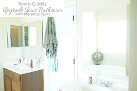 how to install a bathroom mirror frame
